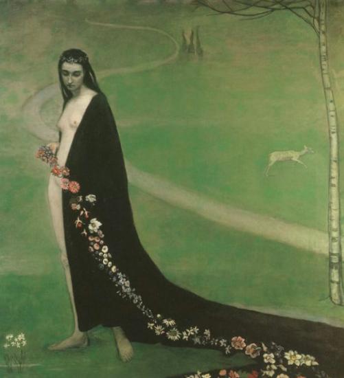 Femme aves des fleurs, 1912. Smithsonian American Art Museum