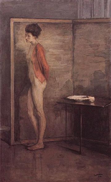 La jaquette rouge, 1910.Smithsonian American Art Museum.